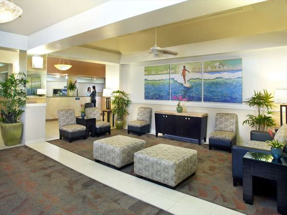 Aqua Waikiki Wave Hotel lobby