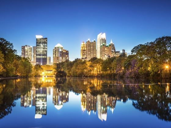 Atlanta, Georgia skyline at night