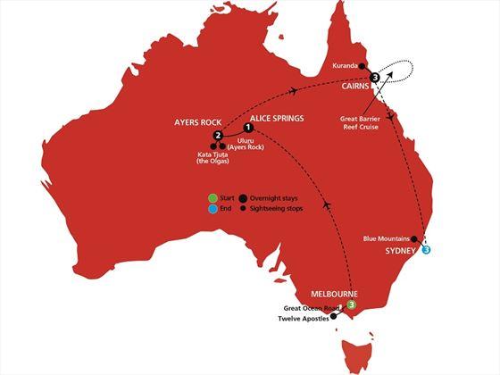 Australian Icons map