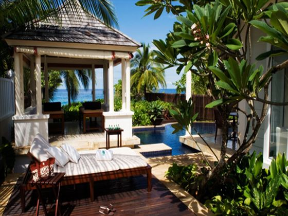 Banyan Tree Two-bedroom Villa outdoor lounge