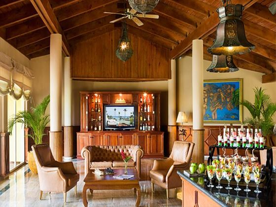 Bar and lounge area at Excellence Punta Cana