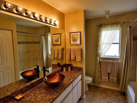 Bathroom at Fort Myers Area Pool Homes