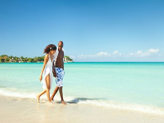 Honeymoon stroll at Couples Negril