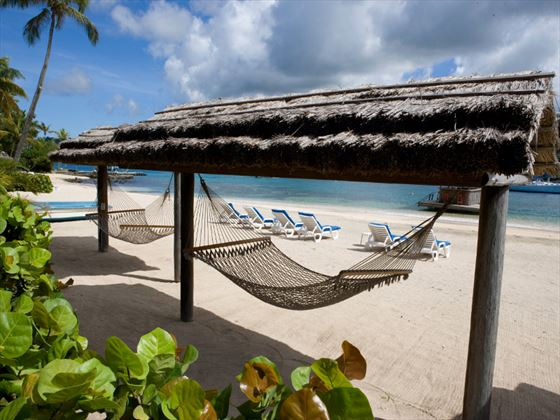 Beach hammock at Young Island