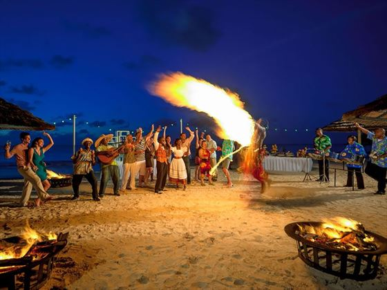 Beach party at Sandals Antigua