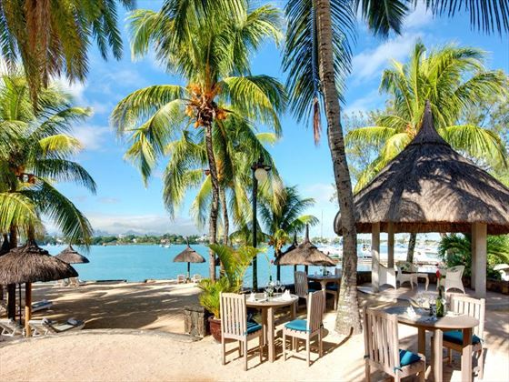 Beach restaurant at Veranda Grand Baie