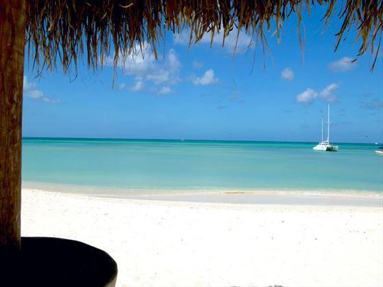 Beach view from Barcelo Aruba