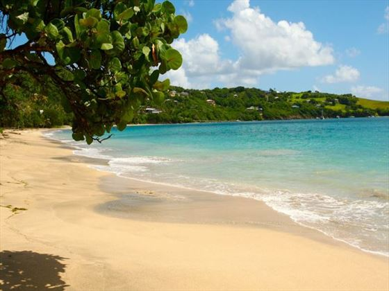 Beach views from Bequia Beach Hotel