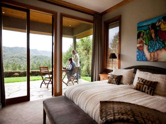 Bedroom views at Treetops Lodge & Estate