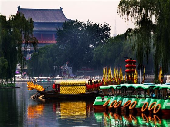 Houhai lake boats