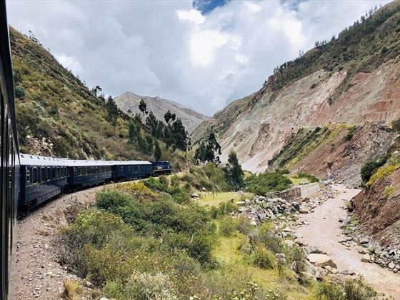 Bingham Train in countryside Peru