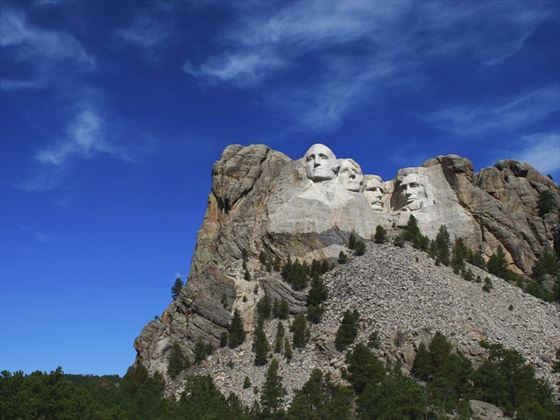 Blue skies over Mount Rushmore
