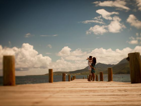 Boardwalk on Turtle Beach, St Kitts
