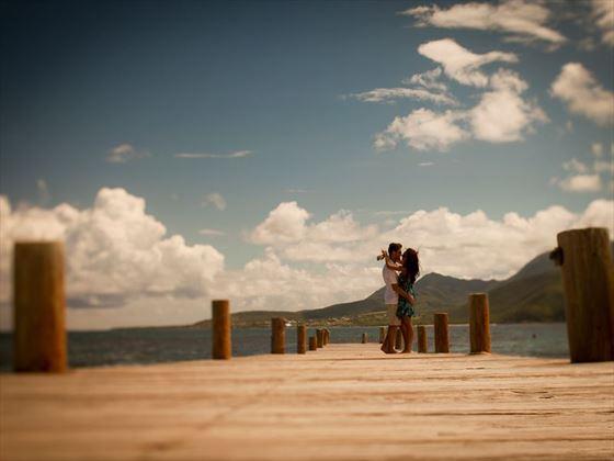 Boardwalk on Turtle Beach, St Kitts