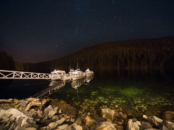Boats by Spirit Bear Lodge