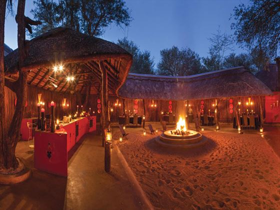 Boma dining at Kings Camp