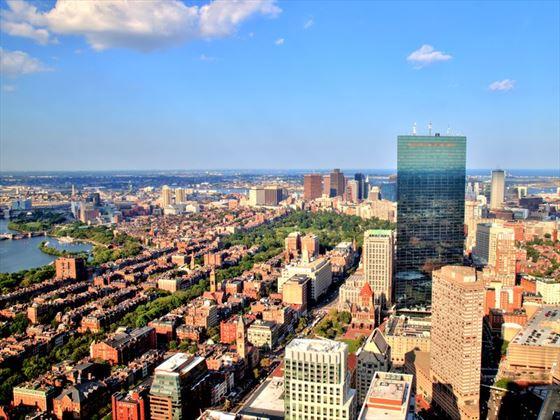 Boston's aerial view