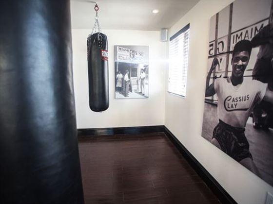 Boxing gym at Hotel Croydon