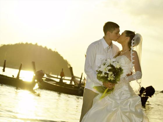 Bride and groom at Centara Karon Resort