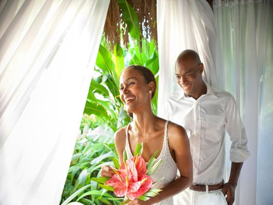 Couples Negril wedding couple