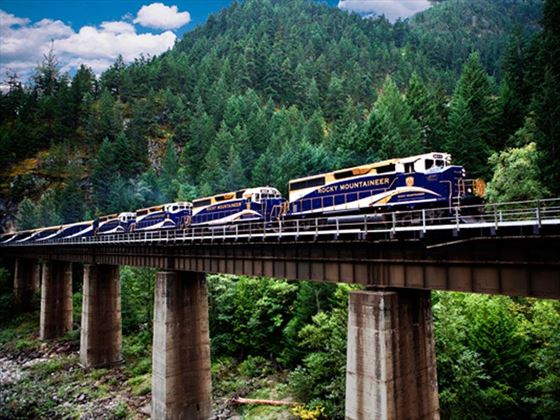 Rocky Mountaineer Near Hells Gate