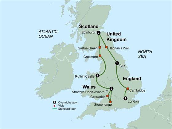 British Landscapes itinerary