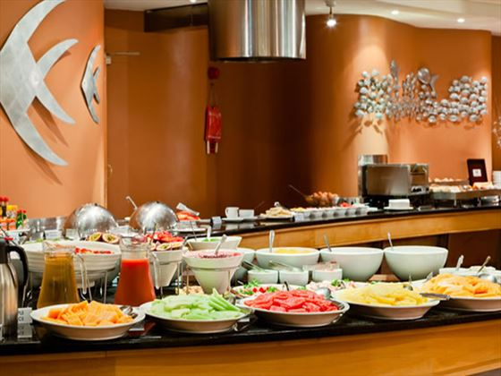 Buffet station at Protea Hotel Knysna Quay
