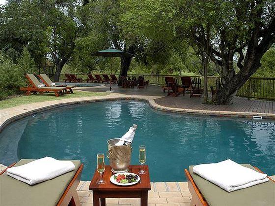 Bush lodge pool at Sabi Sabi Private Game Reserve