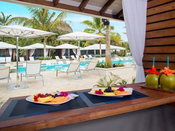 Cabana Fruit Plates at Pool Serenity