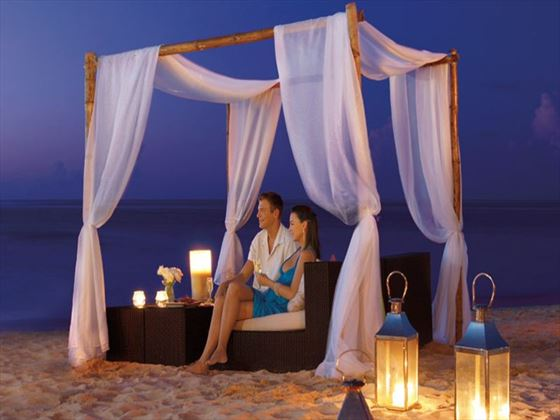 Romantic cabana on the beach