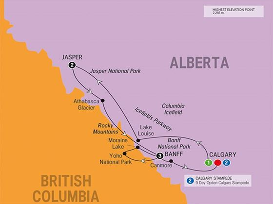 Canada's Rockies route