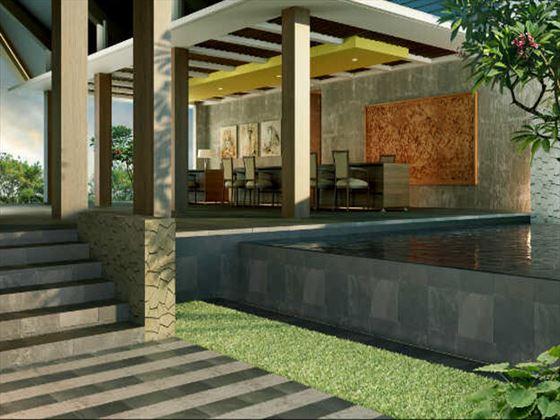 Candi Beach Cottage lobby