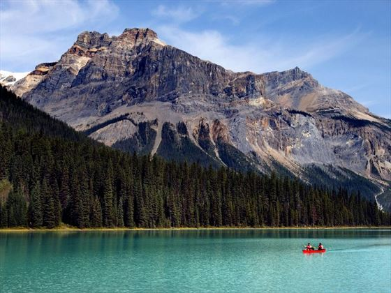 Canoeing in the Canadian Rockies