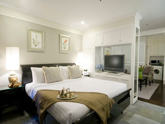 Cape House Langsuan Serviced Apartments Studio bedroom