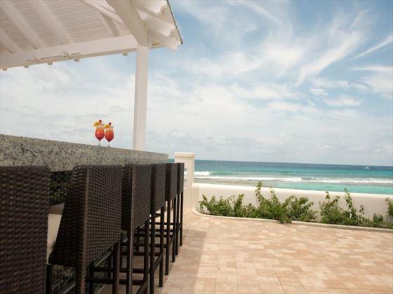 Caribbean beachside bar at The SoCo Hotel