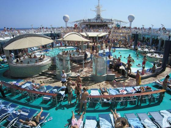 Pool Deck on Carnival Ecstasy
