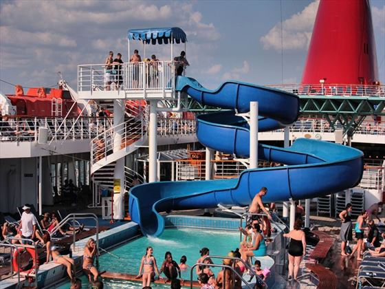 Pool Deck on Carnival Paradise