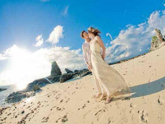 Beach wedding, Castaway Island