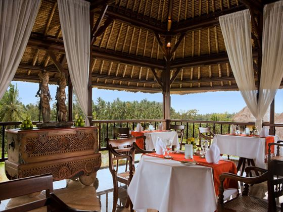 Cempaka lounge restaurant at Kamandalu Resort & Spa
