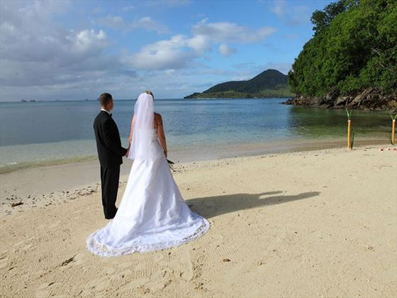 Bride & Groom on Cerf Island