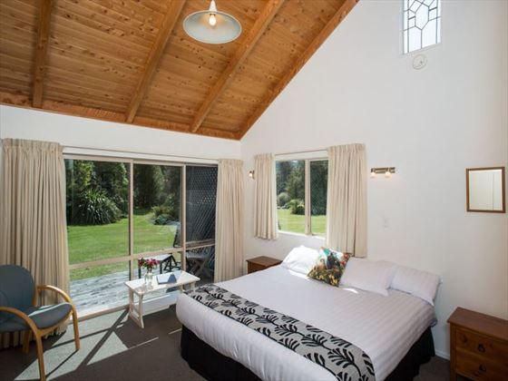 Chalet bedroom at Abel Tasman Marahau Lodge