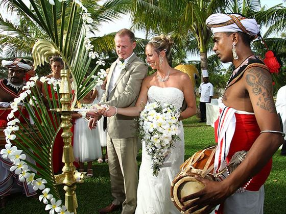 The traditional Sri Lankan style wedding ceremony