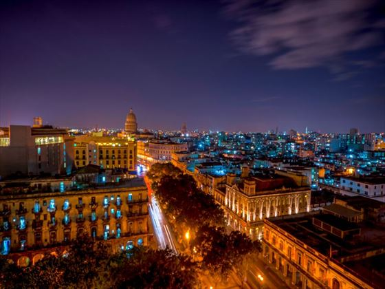 City of Havana at night