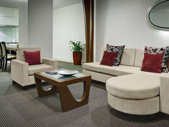 One Bedroom Executive Suite lounge