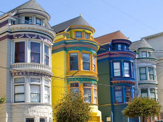Colourful houses in San Francisco