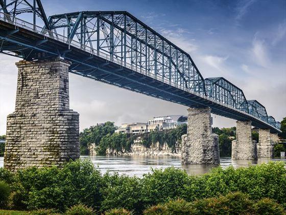 Coolidge Park and Walnut Street Bridge, Chattanooga