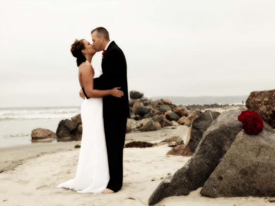 Bride & Groom on Coronado Beach