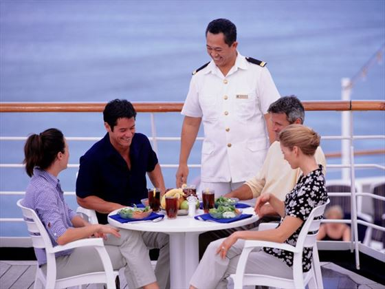 Dine with friends on your cruise holiday