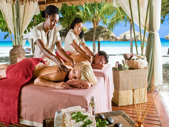 Couples spa treatment at Beaches Negril Resort and Spa