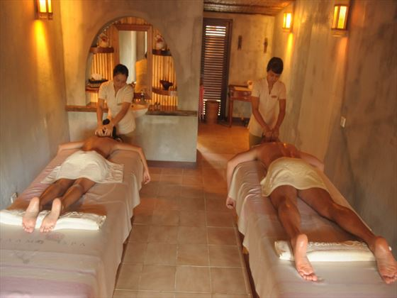 Couples spa treatment at Fun Island